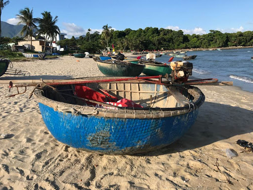 Coracle Boats at My Khe Beach