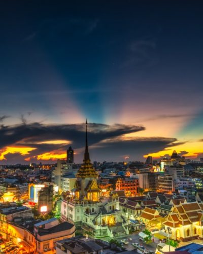 Bangkok Colourful Cityscape dusk